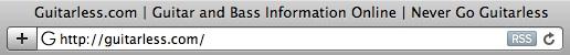 RSS subscription icon in Safari