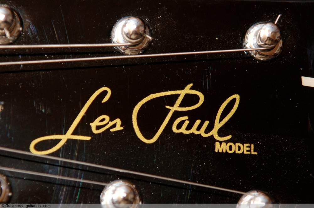 identify a fake gibson les paul photo comparison guitarless. Black Bedroom Furniture Sets. Home Design Ideas